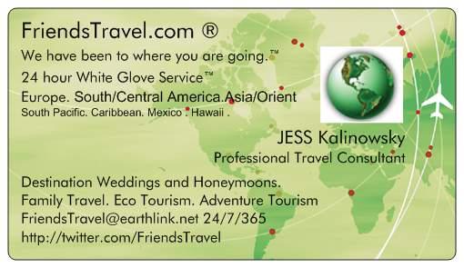 JESS Kalinowsky Friends Travel LLP JESS@FriendsTravel.com
